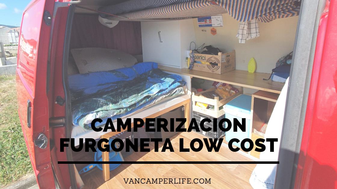 camperizacion furgoneta low cost