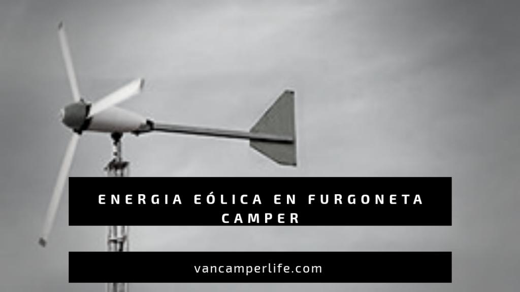 energía eólica para camper